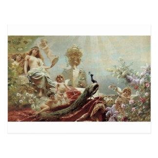 Postal El retrete de Venus de Konstantin Makovsky
