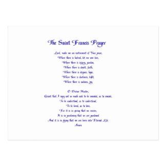 Postal El rezo de la paz de St Francis
