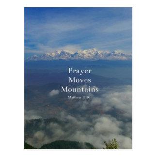 Postal El rezo del 17:20 de Matthew mueve las montañas