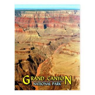 Postal El río Colorado, parque nacional del Gran Cañón