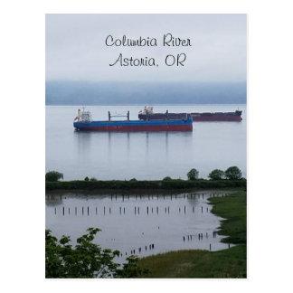 Postal El río Columbia en Astoria Oregon