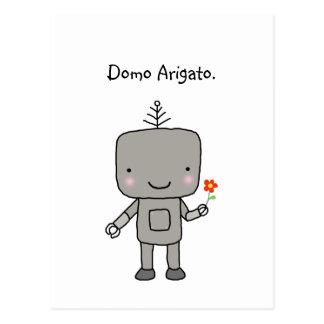 Postal El robot le agradece friki divertido lindo de Domo