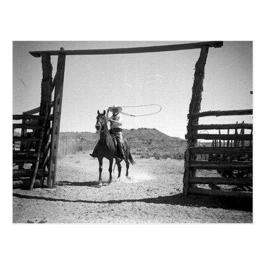 Postal El roping del vaquero