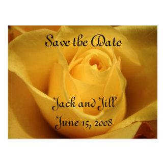 Postal El rosa amarillo, ahorra la fecha,