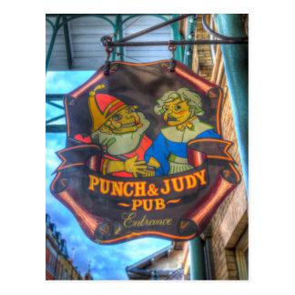 Postal El sacador y la muestra del Pub de Judy