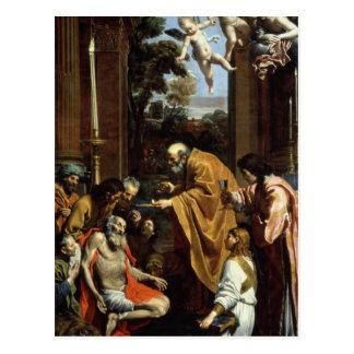 Postal El sacramento pasado de St Jerome, 1614