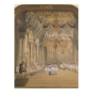 Postal El salón de la ópera durante el intervalo