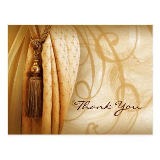Postal El salón de las cortinas del vintage le agradece