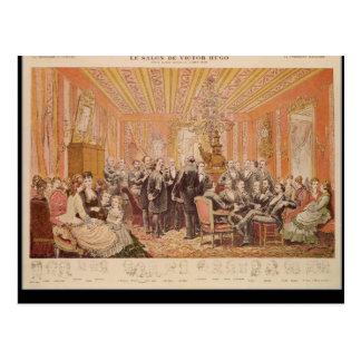 Postal El salón de Victor Hugo