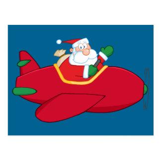 Postal El Santa-Claus-Vuelo-UNo-avión-y-Agitar
