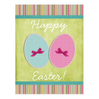 Postal El scrapbooking de los huevos de Pascua colorido