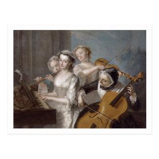 Postal El sentido de la audiencia, c.1744-7 (aceite en