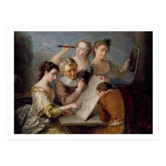 Postal El sentido de la vista, c.1744-47 (aceite en lona)