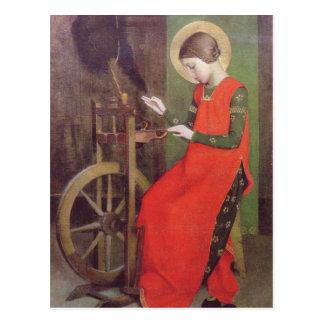Postal El St Elizabeth de Hungría de Marianne alimenta