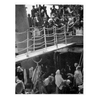 Postal El Steerage - vintage 1907 de la nave de la