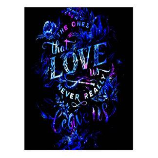 Postal El sueño del amante de los que nos aman
