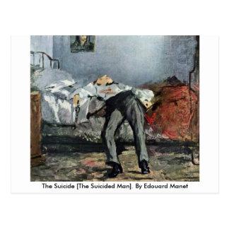 Postal El suicidio [el hombre de Suicided]. Por Eduardo