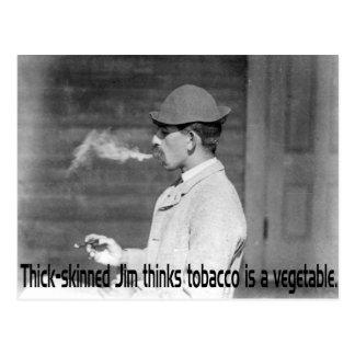 Postal El tabaco es una verdura - humor de antaño del