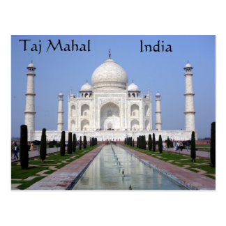 Postal El Taj Mahal, Agra, la India