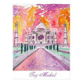 Postal El Taj Mahal la India