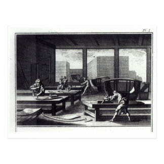 Postal El taller del carpintero