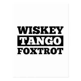 Postal El tango de Wiskey Foxtrot