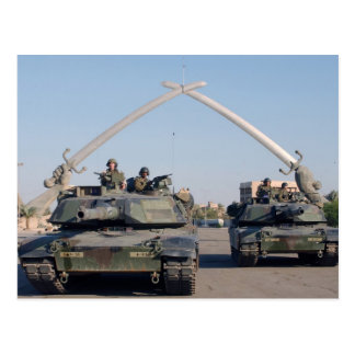 Postal El tanque de M1A1 Abrams