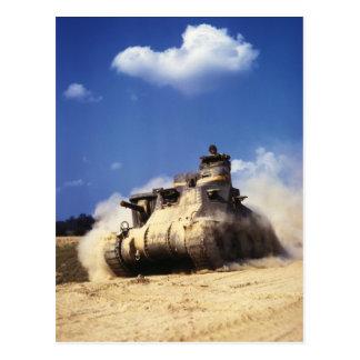 Postal El tanque del M3 Lee en ejercicios de formación en