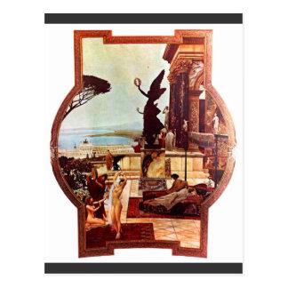 Postal El teatro de Taormina de Gustavo Klimt