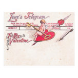 Postal El telegrama del amor