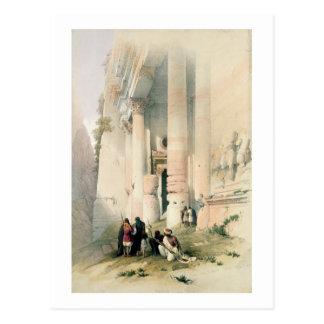 Postal El templo llamó el EL Khasne, Petra, el 7 de marzo