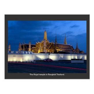 Postal El templo real en Bangkok Tailandia