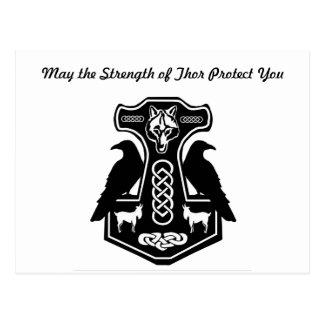 Postal El Thor de mayo le protege el martillo del Thor