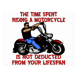 Postal El tiempo pasado montando una motocicleta no se