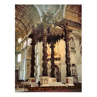 Postal El toldo de Bernini sobre el alto altar