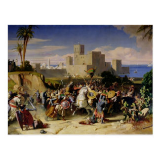 Postal El tomar de Beirut de los cruzados