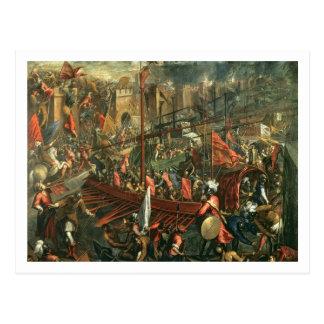 Postal El tomar de Constantinopla (aceite en lona)
