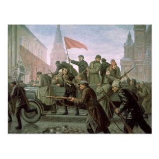 Postal El tomar de la Moscú el Kremlin en 1917, 1938