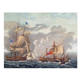 Postal El tomar del buque inglés 'el Java