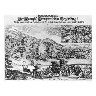 Postal El tomar y la destrucción de Heidelberg cerca