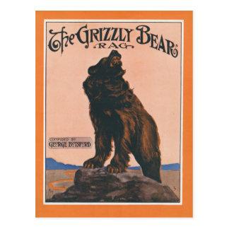 Postal El trapo del oso grizzly