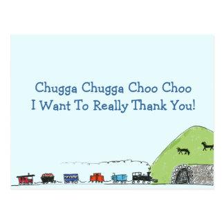 Postal El tren Choo Choo de los niños le agradece las