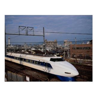 Postal El tren de Shinkansen o de bala, Kyoto, Japón
