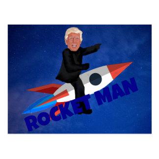 Postal El triunfo monta a un Rocket