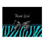 Postal El trullo de moda le agradece estampado de zebra