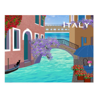 Postal El turismo del viaje del vintage de Italia añade