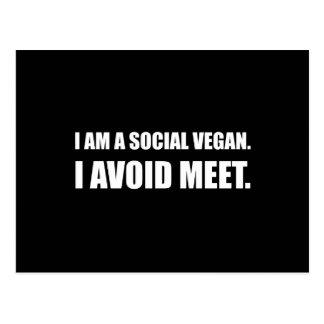 Postal El vegano social evita la reunión