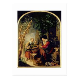 Postal El vendedor de la crepe, 1650-55 (aceite en el