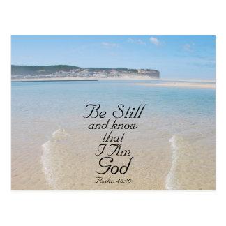 Postal El verso de la biblia todavía esté y sabe que soy