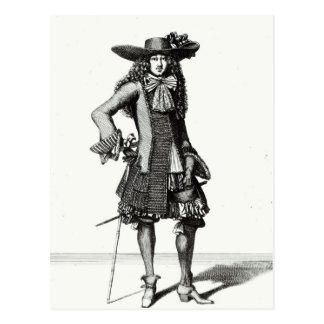 Postal El vestido de la espada del verano, 1675